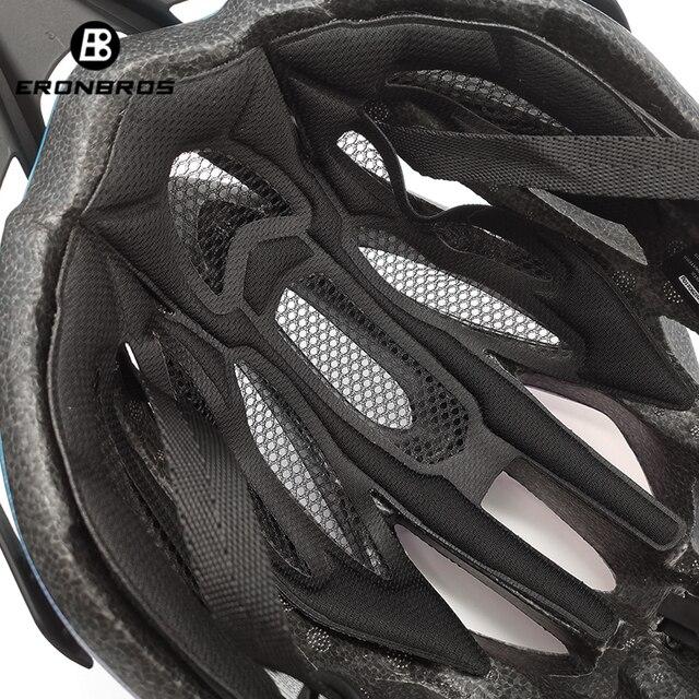 Bicicleta de montanha capacete com luz led vermelho e viseira de sol das mulheres dos homens leve estrada ciclismo capacete da bicicleta esportes equipamentos 5