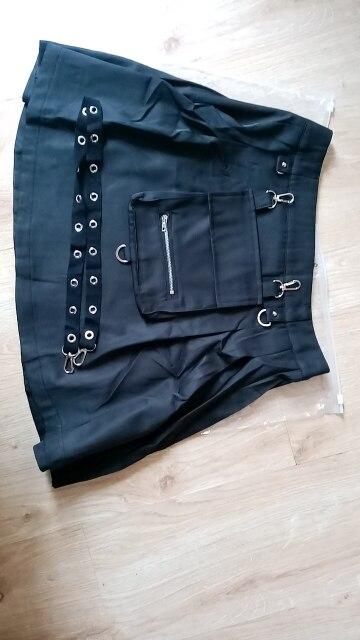 Black Skirts with Bandage Pastel gothic E-girl photo review