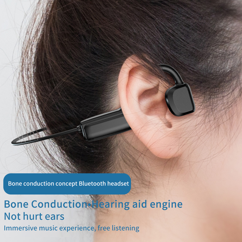 cheapest True Bone Conduction Earphone Waterproof Wireless Bluetooth Headphone with Microphone Sports Not-In Ear Headset for Android Ios