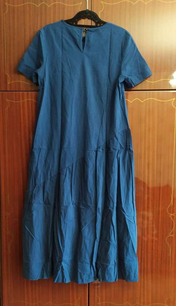 2020 New Summer Solid Loose Elegant Long Dress Women Casual Cotton Short O-neck Ankle-length Dress