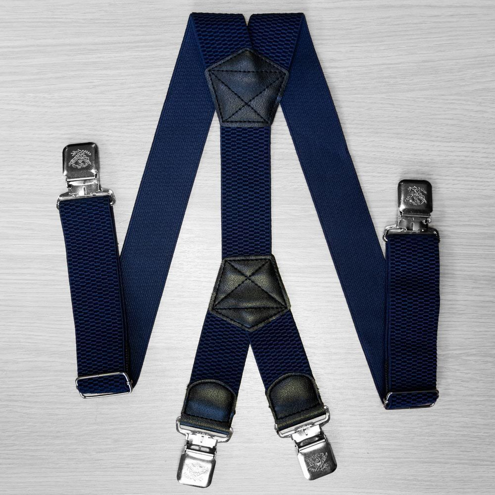 Suspenders For Large Size Trousers (4 Cm, 4 Clips, Blue) 54161