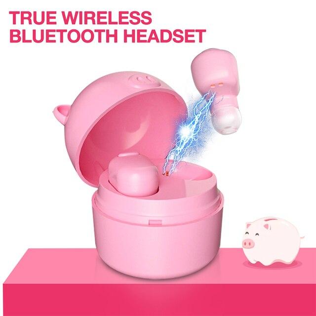 S620 bluetooth tws prawdziwe bezprzewodowe w ucho sport Mini Cartoon świnia para zestaw słuchawkowy Bluetooth
