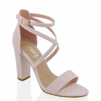 MST-1040 Lady Classic Thick short heels casual shoes women's cross band buckle 34-42 numaralar stiletto