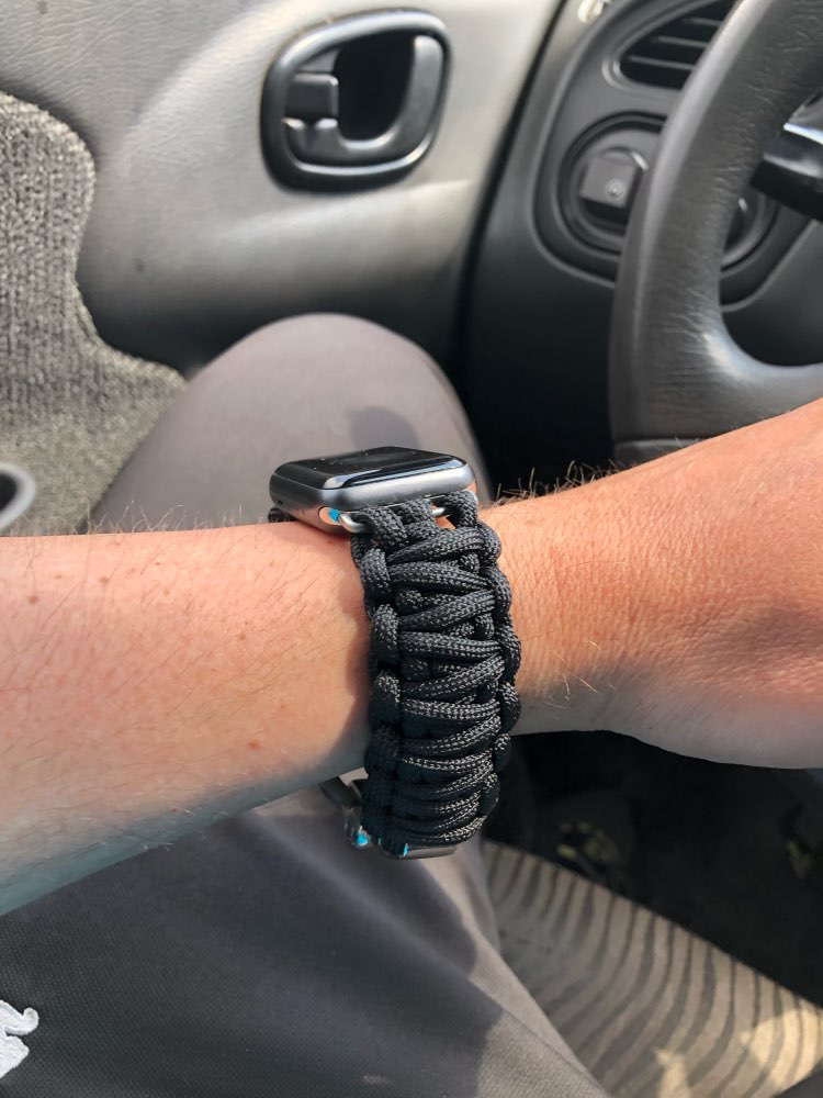 Survival Rope Bracelet watch band photo review