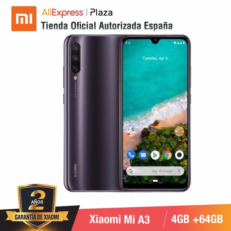 [Global Version For Spain] Xiaomi Redmi Mi A3 (Memoria Interna De 64GB, RAM De 4GB) Movil