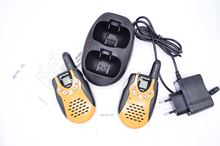 A good punching walkie-talkie for its size. Compact, clean in sound. There is Vox mode and