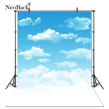 Thin Vinyl White Cloud Blue Sky Photography Backdrops Children indoor Studio Photo Backdrop Photography Studio Photo Background 5x7ft dark blue backdrop dark blue ocean world photography background and photography studio backdrop props