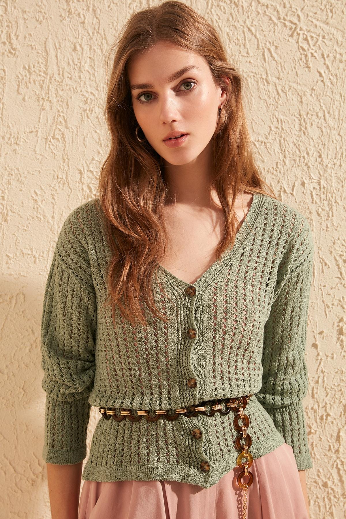 Trendyol Cellular Knitwear Cardigan TWOSS20HI0015