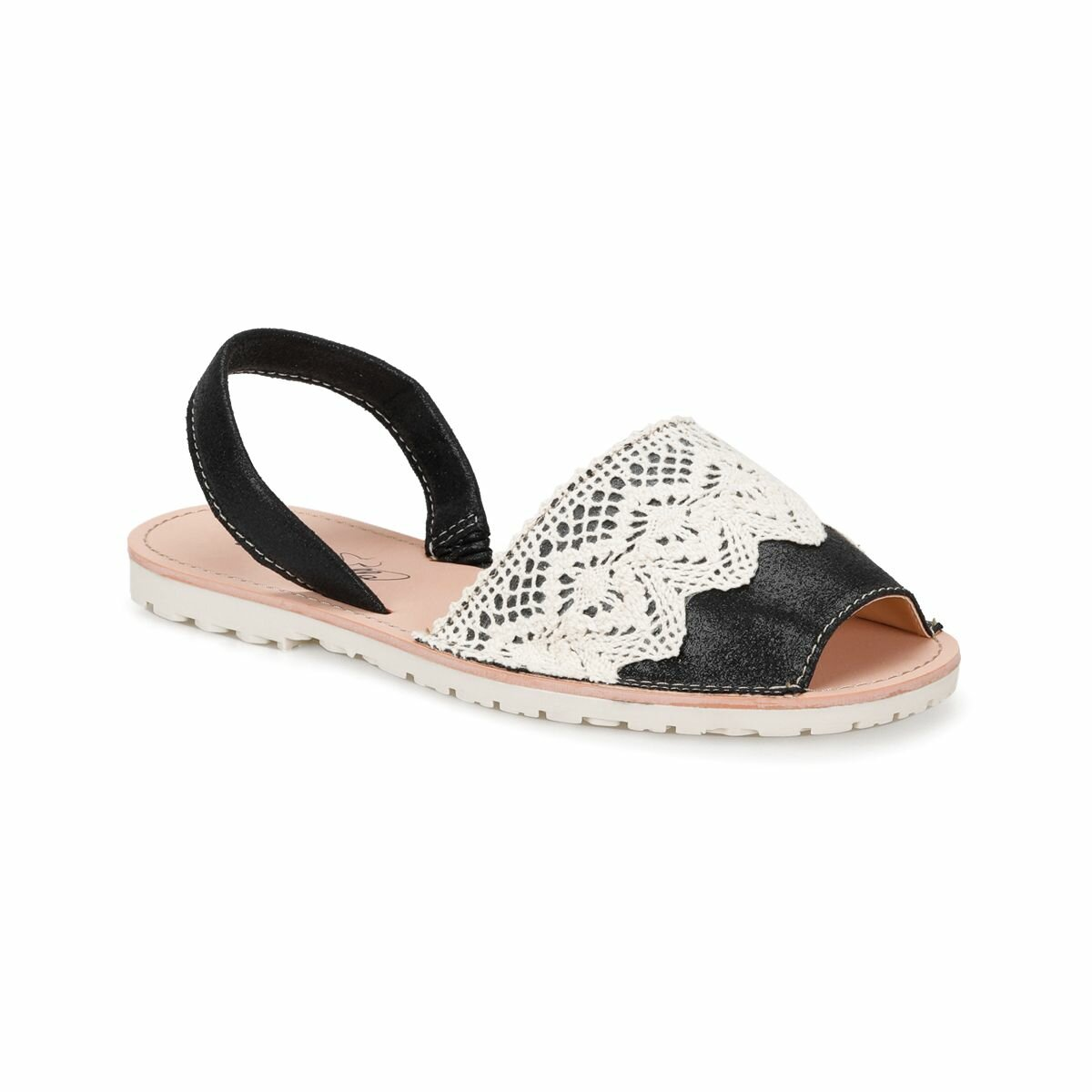 FLO CS18138 Black Women Sandals Art Bella