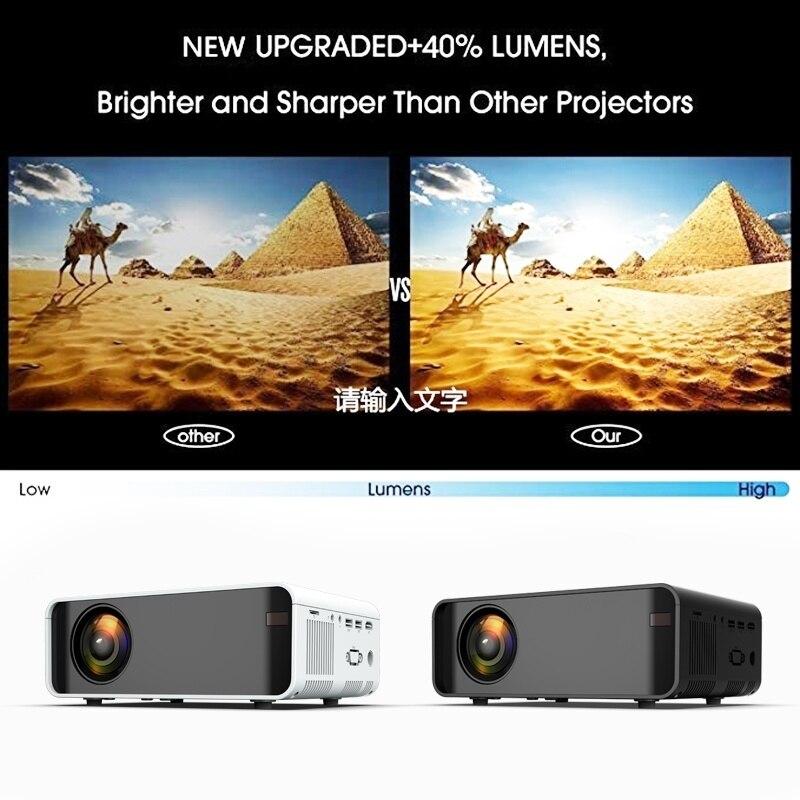Unic w80 led completo hd 1080 p 3000lm projetor 4 k wifi hdmi usb bluetooth lcd de cinema em casa media player android beamer telefone sincronização - 3