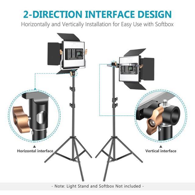 neewer 2 комплекта усовершенствованный 24g светодиодный светильник фотография