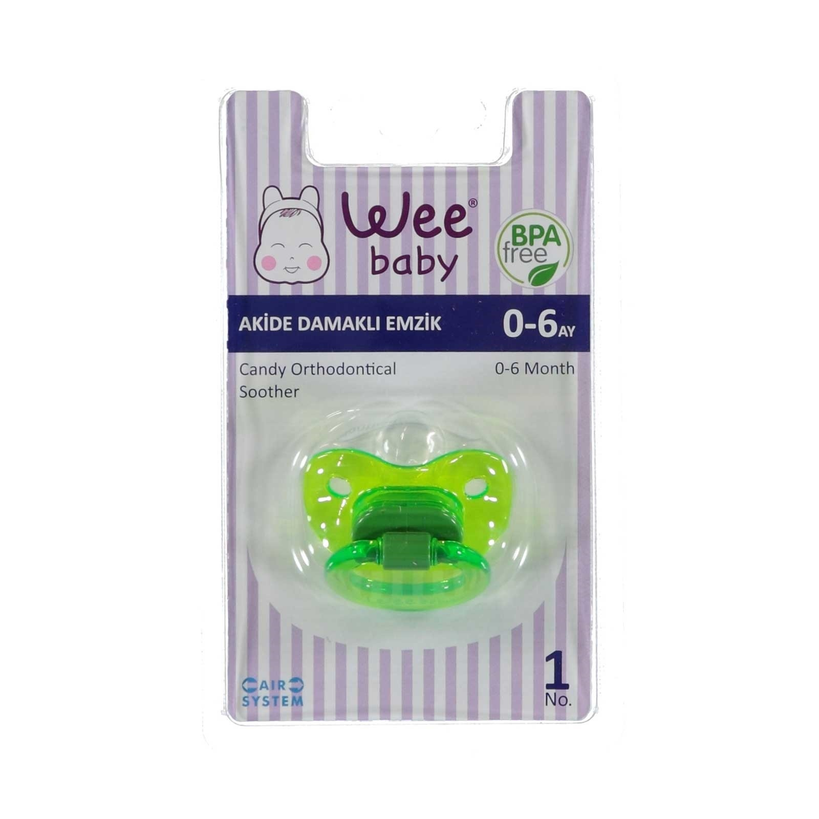 Ebebek Wee Baby 111 Candy Orthodontical Soother