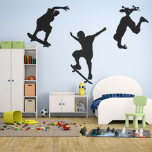 Colorful Skateboarding Tricks Sports Frame Wall Sticker Home Decals For Living Room Decor A0072