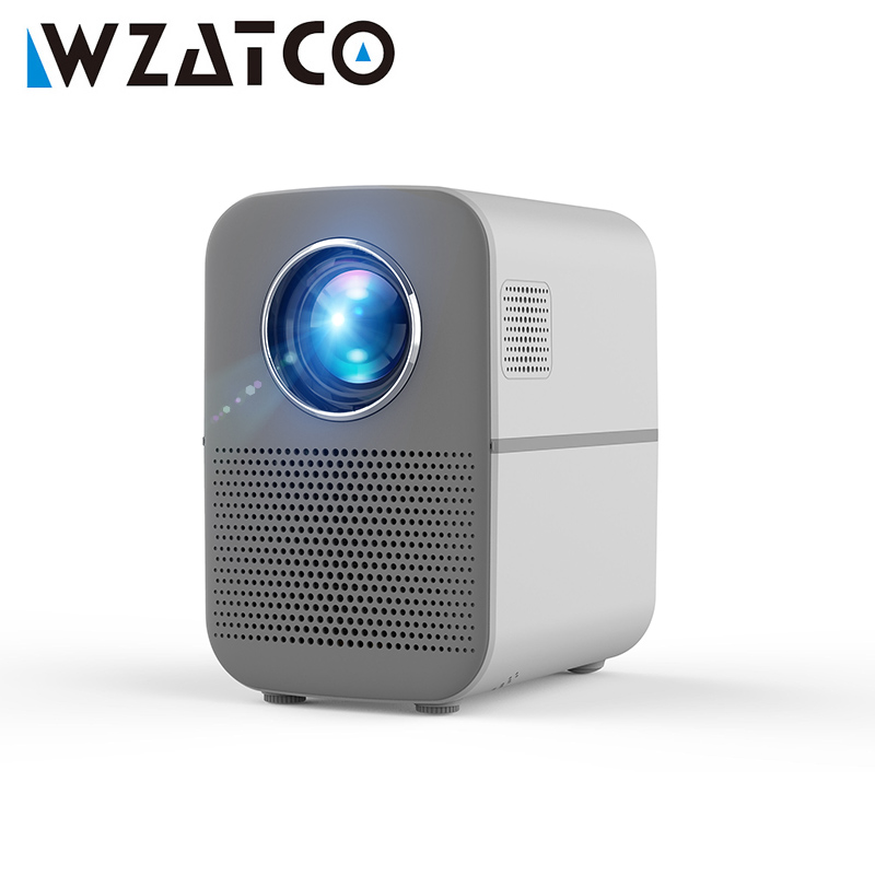 WZATCO H1 светодиодный проектор Bluetooth HDMI 1280x720 Поддержка Full HD Смарт-видео электронный Keystone 3500 люмен проектор