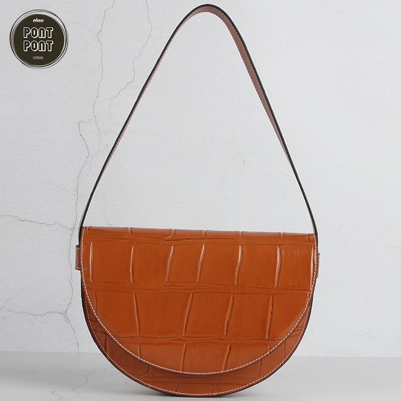 Designer Female Handbag Shoulder Bag For Women Genuine Leather Handbag 2020 New Fashion Bag For Girls sac a main femme bolsas