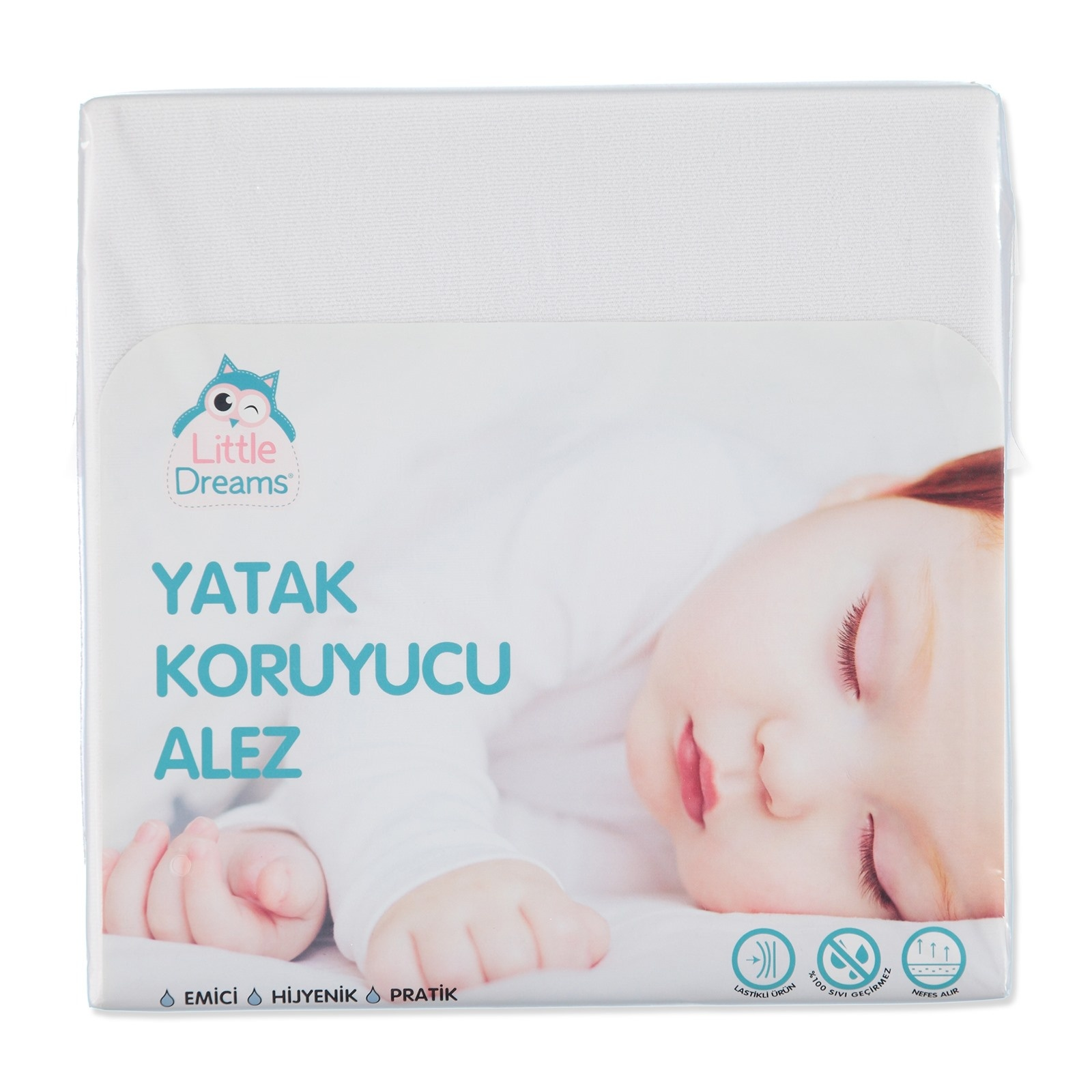 Ebebek Little Dreams Fitted Bed Sheet Protector 70x140 Cm