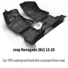 TPO Renegade Floor Custom Car Trim Black TPE Foot-Mat BU Full-Set 15-20 Fit-For