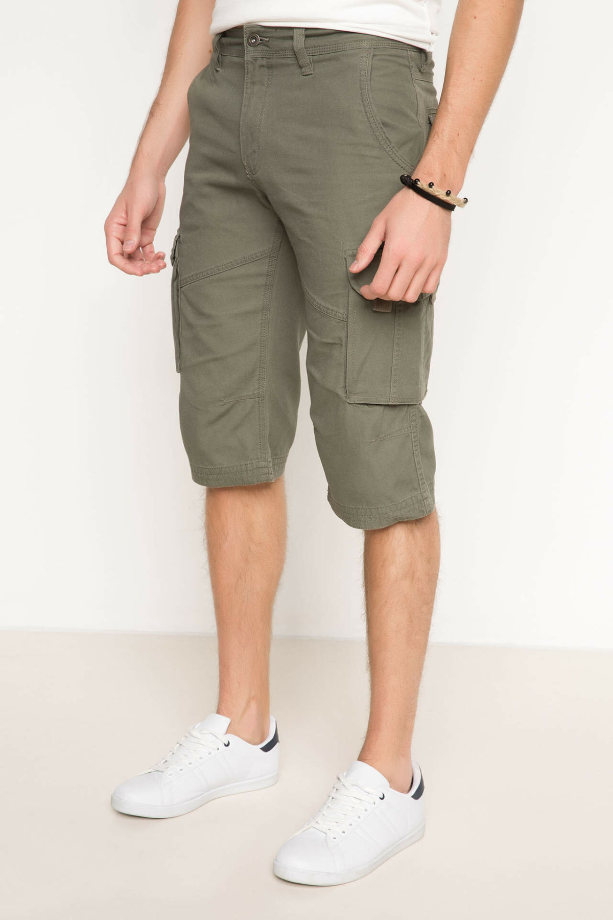 DeFacto Fashion Man Loose Pants Male Casual Cargo Shorts Men's Loose Leisure Summer New - G8337AZ17HS
