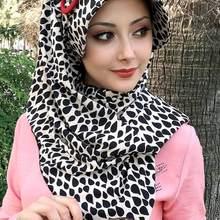 Yeni Moda Başörtüsü Kadın Müslüman Başörtüsü 2021 İslami Kıyafet Eşarp kemik Türban Fular Siyah Beyaz Tokalı Hazır Şapka Şal