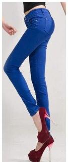SIL923 High Waist Jeans For Women M002 Winter Autumn Jeans Woman Skinny Slim OL Office Denim Pencil Pants Female Jeans