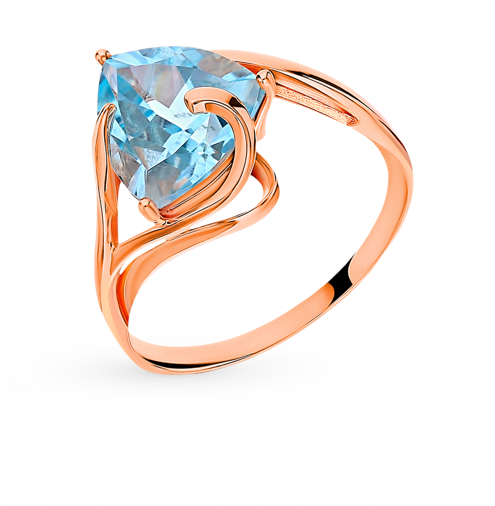 Gold Ring With Topaz Sunlight Sample 585