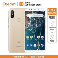 Versão global xiaomi mi a2 128gb rom 6 gb ram (novo e selado) mia2 128gb smartphone móvel