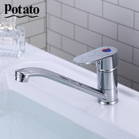 Potato Waterfall Kitchen Faucets Wash Basin Faucet Wash Basin Mixer Tap Water Chrome Plated Kitchen Mixer Bathroom Tap p49220