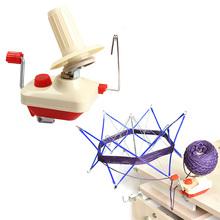 Hand Operated Wool Winder Holder String Ball Coiler for Yarn Fiber Winding Machine Yarn Fiber Winder Machine Sewing Accessories tanie tanio VKTECH Knitting CN(Origin) String Winding Machine Plastic