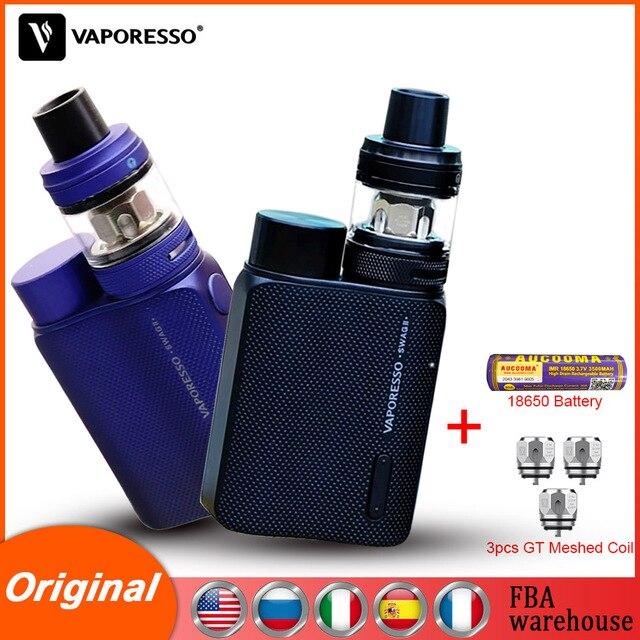 Оригинальный Vaporesso Vape SWAG 2 Kit с боксмодом, NRG, ПЭ бак, атомайзер GT 4, сетчатая катушка, основной аккумулятор, электронная сигарета для вейпа
