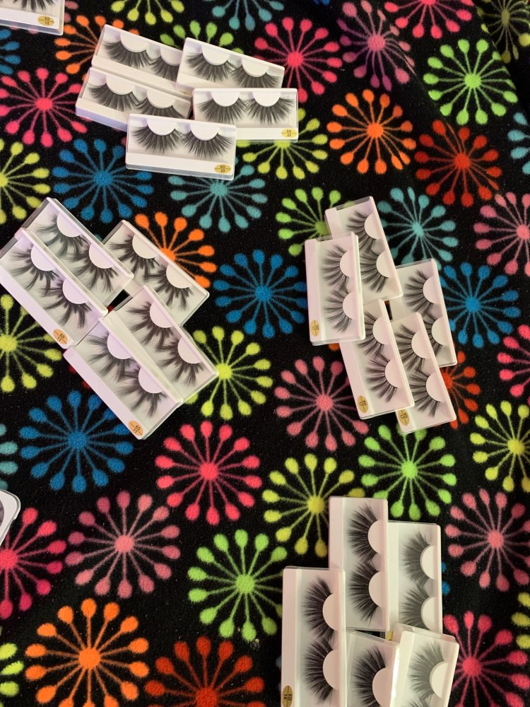 Wholesale 25mm Lashes 30/50/100/200 Pairs 25 mm False Eyelashes Thick Strip Mink Lashes Bulk Makeup Dramatic Long Mink Eyelashes