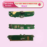 1piece Microphone Module+USB Charging Port Board Flex Cable Connector Parts For Philips Xenium V387 W8560 W6610 W8510 i908