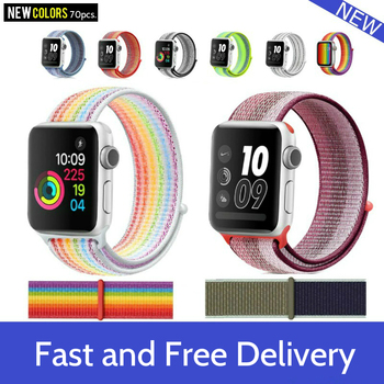 цена на Nylon Strap For Apple Watch band 40mm 44mm iWatch band 38mm 42mm series  Sport loop Bracelet Apple watch 5 4 3 2 38 40 42 44 mm