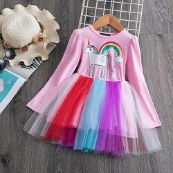 Meninas da moda vestido de verão 2019 adolescentes meninas vestidos de festa vestido idade tamanho 2 3 4 5 6 anos aniversários vestidos de princesa vestido de outono
