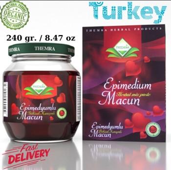 Themra epimedium turkish honey mix macun horny goat weed ginseng herbal aphrodisiac-turkish paste,240 gr %100 halal