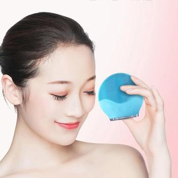 Waterproof Silicone Facial Cleansing Brush Shrinking Pores Oil-Control USB Electric Face Cleansing Instrument Vibration massage facial cleansing oil