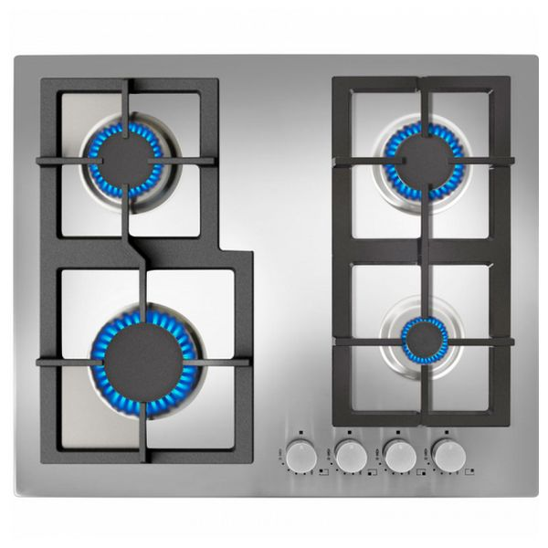 Gas Hob Teka 60 Cm Inox 60 Cm Inox Auto Ignition (4 Stoves)
