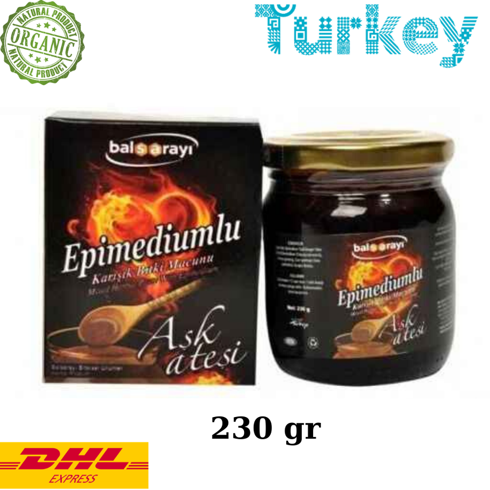 Balsarayi Aphrodisiac Epimedium Turkish Honey Mix (Horny Goat Weed Aphrosisiacs) – Turkish Paste, 230gr, %100 Halal