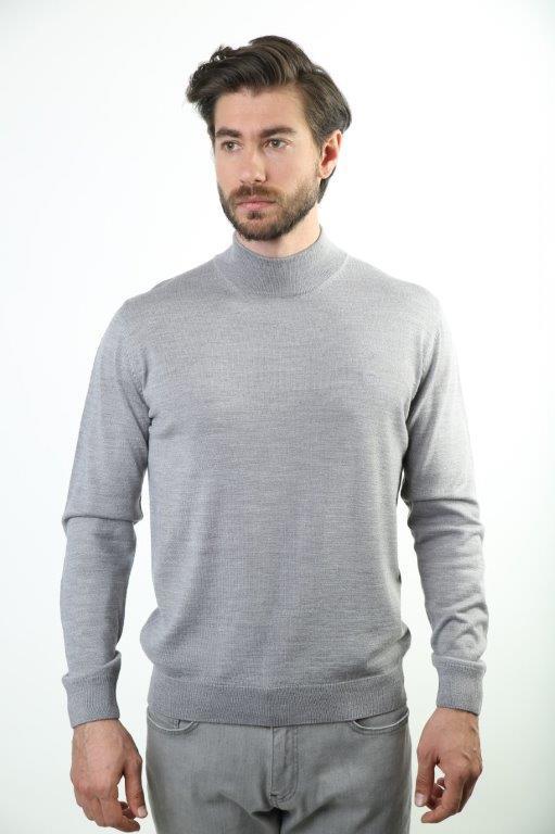 Sweater Half Turtleneck Male Wool Sweater 6001