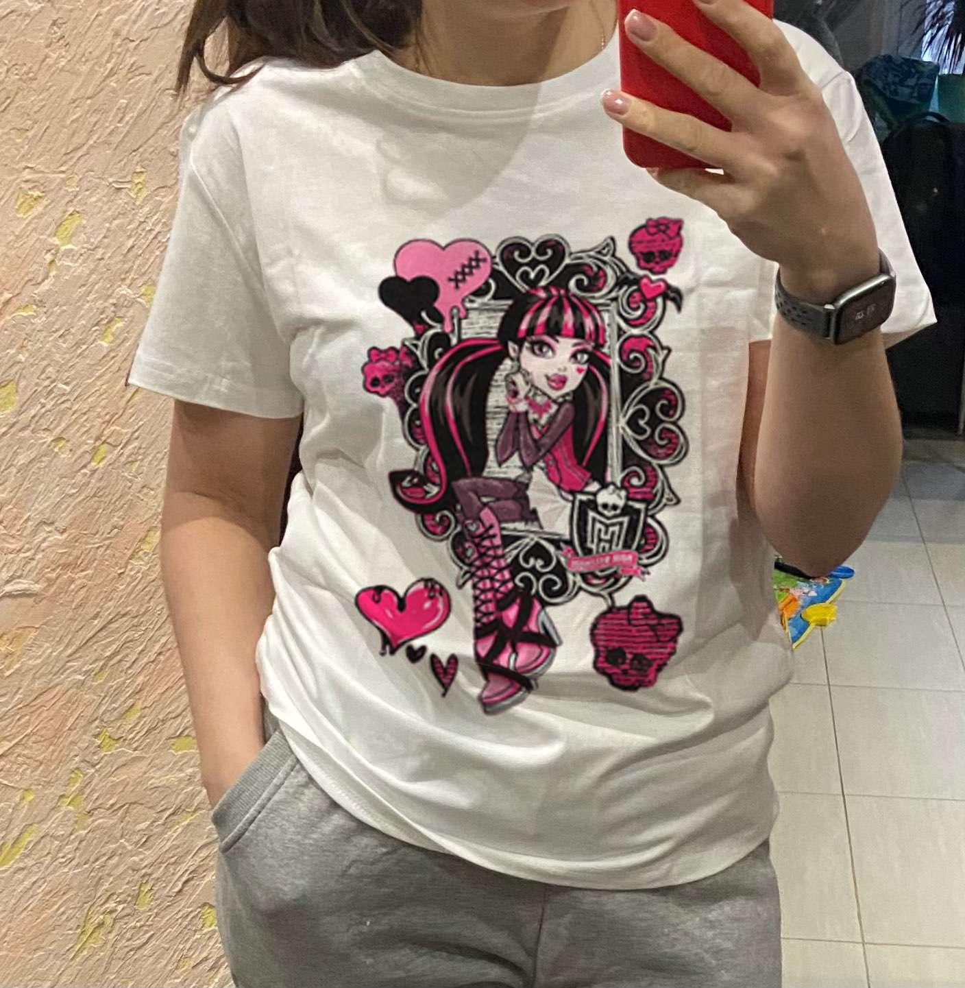 Harajuku cartoon print T-shirt photo review