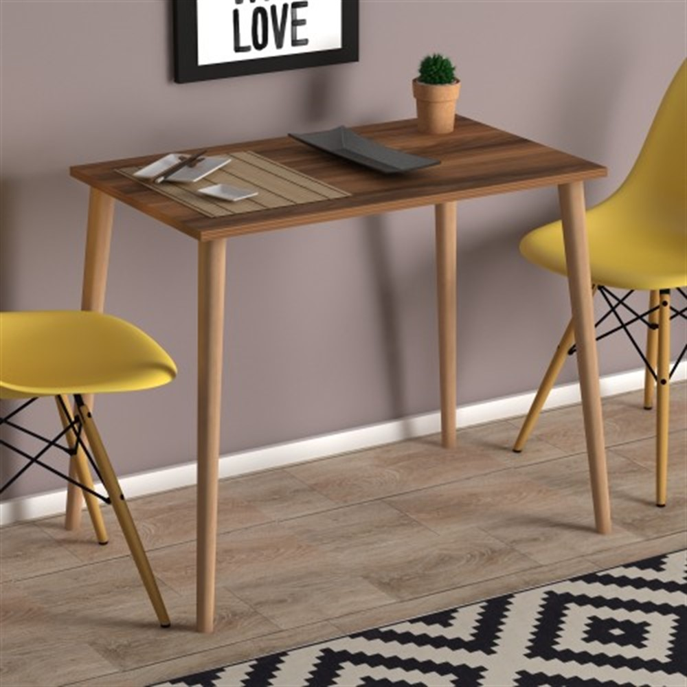 US $169.0 |MADE IN TURKEY Dining Table Solid Wood 2 Color Computer Desk  Kitchen Table Dining Room Furniture Kitchen Habitdesign Living Room on ...