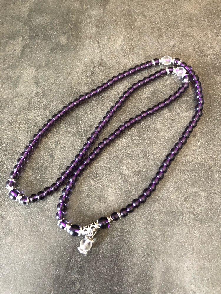 Bracelet Mala Bouddhiste en Améthyste - 108 perles - 6mm