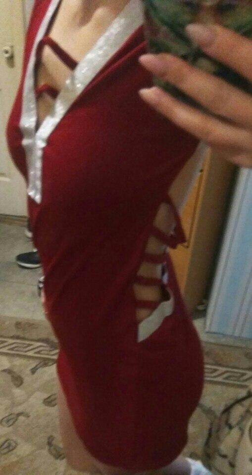 Elegant Sexy Women Deep V- Neck Sequin Bandage Bodycon Dress Party Short Mini Dresses Fashion reviews №2 306506