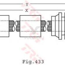 TRW PHB440 Шланг тормозной VW: SHARAN 1.9D/2.0/2.8 00