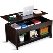 Bedroom Stable Lift Top Coffee Table Dining Table W/ Hidden Storage Compartment & Storage Space and Lift Tabletop Space Saving