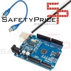 Одна R3 плата ATmega328p CH340G 100% совместимость с Arduino + pins SMD проводная