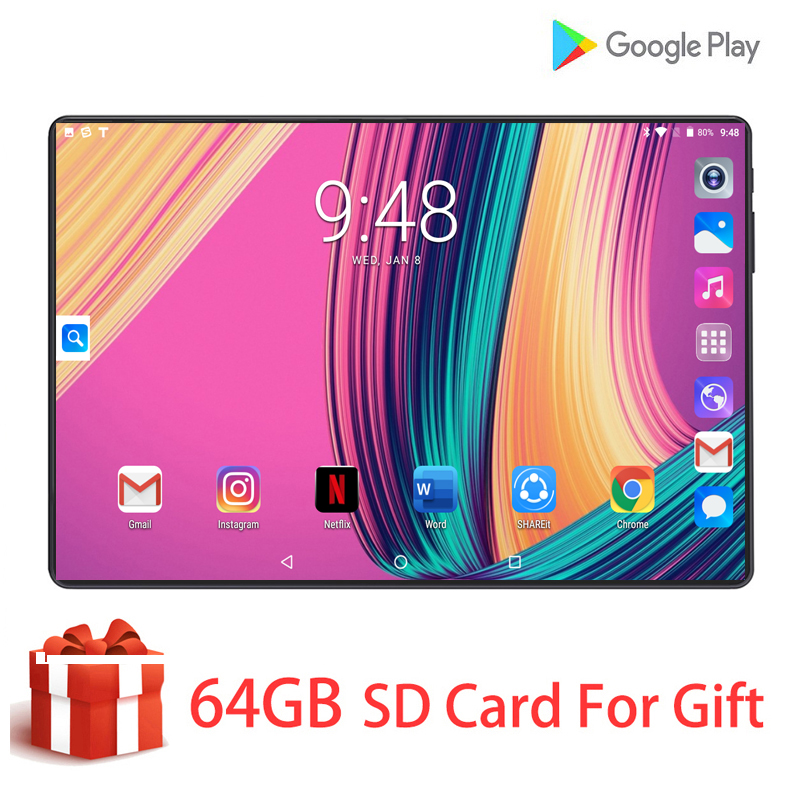 Fast Shipping 100% Original 10 Inch 4G LTE Phone Call Tablet Android 9.0 OS Octa-Core 6G+128G HD 8MP Camera Dual Sim Card +Gifts