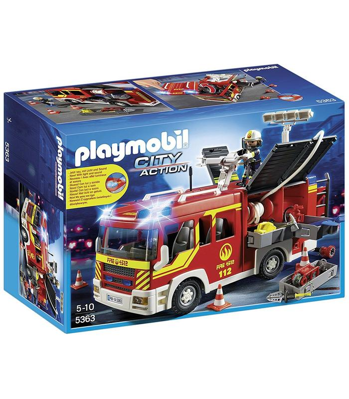 Playmobil 5363 Fire Truck With Light Toy Store