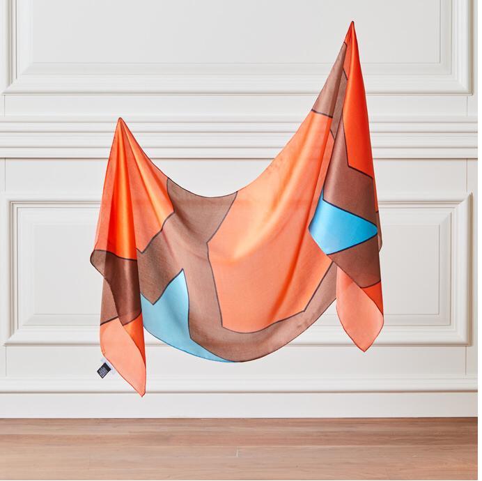 Foulard en soie «déduction»-fabriqué en turquie-% 100 soie-Collection d'art-dignité-accessoire de beauté-Design spécial