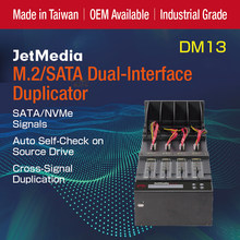JetMedia DM13 1to3 M.2 NVMe SATA SSD duplicateur SATA M.2 double Interface duplicateur HDD SSD copieur