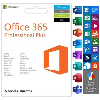 Office 365 2019 Account For all Languages Works on 5 Devices + 1TB OneDrive Storage Microsoft /3 months Account